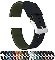 Barton Elite Silicone Watch Bands – Quick Release – Choose Color – 18mm, 19mm, 20mm, 21mm, 22mm, 23mm & 24mm Watch Straps