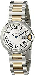 Cartier Women's W69007Z3 Ballon Bleu Stainless Steel and 18K Gold Watch