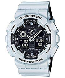 Casio G-Shock GA-100 Military Series Watches – White/One Size