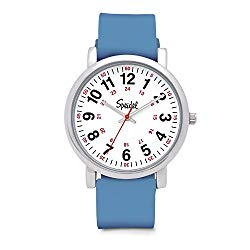 Speidel Scrub Medical Watch – Silicone Bands Match Scrub Colors, Easy Read Dial, Second Hand, 24 HR