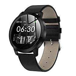 Bluetooth Wristband,1.22 Inch 240240 Tempered Glass Screen Fitness Tracker with Heart Rate Sleeping Monitor Pedometer Fashion Sports Band Fits iPhone 8 Samsung Galaxy S9(Black) Boens