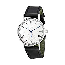 Nomos Ludwig White Dial Black Leather Unisex Watch 201