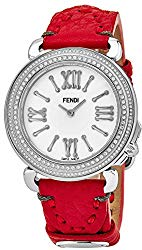 Fendi Selleria Womens Stainless Steel Real Diamond Watch – Mother of Pearl Face Swiss Vintage Dress Watch for Women with Interchangeable Fashion Band F8010345H0P0