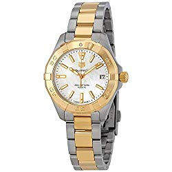 Tag Heuer Aquaracer Mother of Pearl Dial Ladies Two Tone Watch WBD1320.BB0320