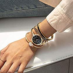 Anne Klein Women's Bangle Watch and Swarovski Crystal Bracelet Set, AK/1470