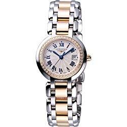 Longines PrimaLuna Two-Tone 18kt Rose Gold & Steel Diamond Womens Watch L8.110.5.79.6