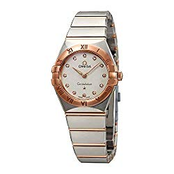 Omega Constellation White Silvery Dial Ladies Steel and 18kt Sedna Gold Watch 131.20.25.60.52.001