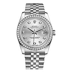 Rolex Datejust Automatic Silver Dial Diamond Stainless Steel Ladies Watch 116244SDJ