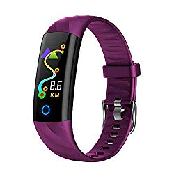 Bluetooth Band, Fashion Mini Sports Watch with Multi Health Functions Heart Rate/Sleep Monitor Pedometer Remote Photography Running for Men Women iPhone XR IOS (Purple) Boens