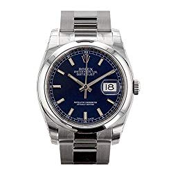 Rolex Datejust 36mm Blue Dial Stainless Steel Watch 116200