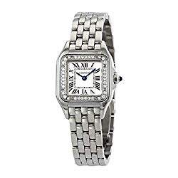 Cartier Panthere Small Diamond Silver Dial Ladies Watch W4PN0007