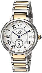 GV2 Women's Rome Swiss Quartz Watch with Stainless Steel Strap, Two Tone, 16 (Model: 12203B)