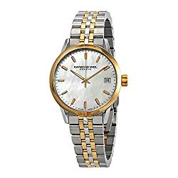Raymond Weil Freelancer Mother of Pearl Dial Ladies Two Tone Watch 5634-STP-97021