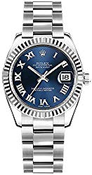 Rolex Datejust 31 Blue Roman Numeral Oyster Bracelet Luxury Watch Ref. 178274