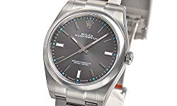 Rolex Oyster Perpetual 114300 Dark Rhodium Dial Mens Watch
