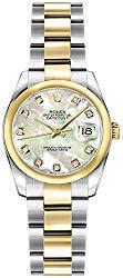 Women's Rolex Lady-Datejust 26 Diamond Mother of Pearl Dial Luxury Watch Ref. 179163