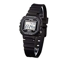 Casio Women's Classic LA20WH-1A Resin Quartz Watch with Digital Dial- Black