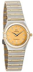 Omega Women's 1277.15.00 Constellation Quartz Small Diamond Accented Watch