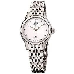 Oris Artelier Date Diamonds Automatic Ladies Watch 01 561 7687 4091-07 8 14 77