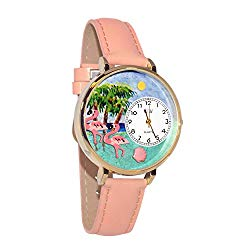 Whimsical Watches Women's G0150001 Flamingo Pink Leather Watch